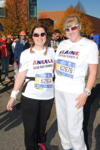 Angela & Elaine at the New York Marathon 2016