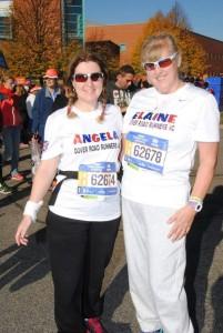Angela & Elaine at the New York Marathon 2016